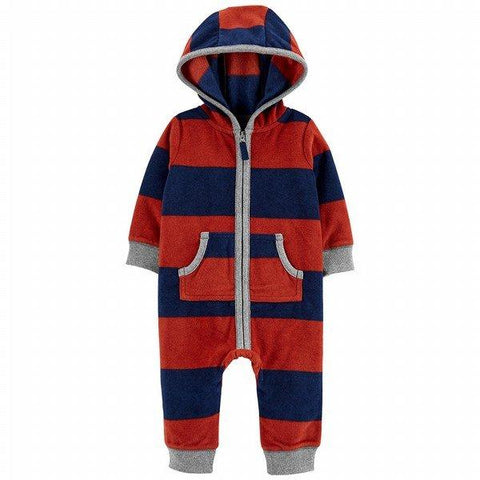 Carter's Raccoon Zip-Up Fleece Jumpsuit - Offspring