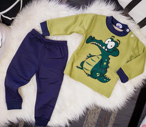 Cartoon Dinasour Pajama Set - Offspring