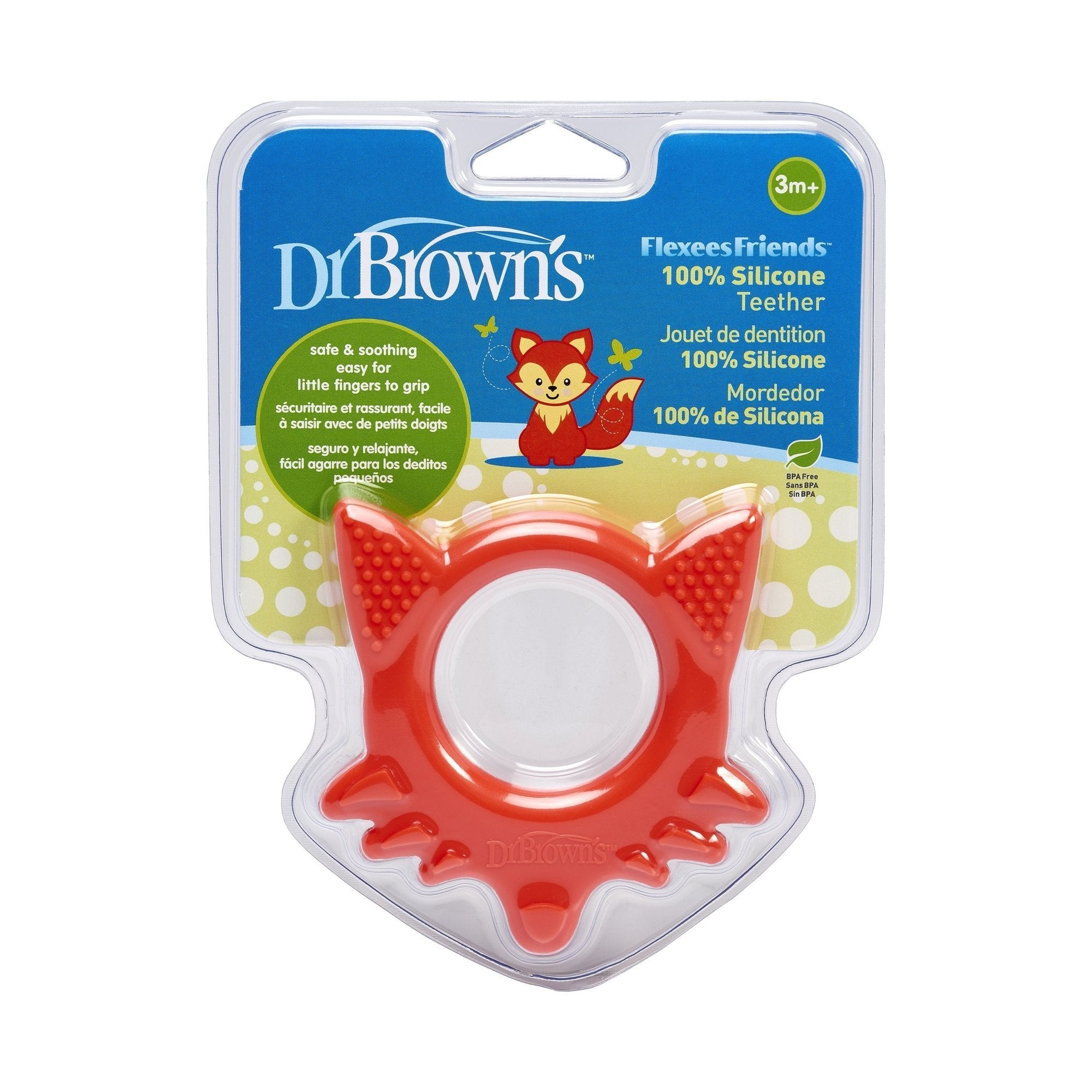 Dr. Brown's Flexees Friends Fox Teether - Red - Offspring