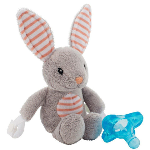 Dr. Brown's® Lovey Pacifier and Teether Holder, 0m+, Billy the Bunny - Offspring