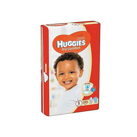 Huggies Dry Comfort (size 5) 12-22Kgs 56pc - Offspring