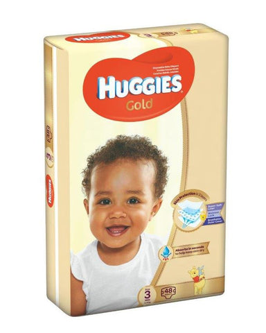 Huggies Gold Midi (size 3) 5-8Kgs 48pc - Offspring