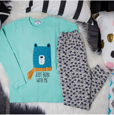 """Just Bear With Me"" Pajama Set - Offspring"