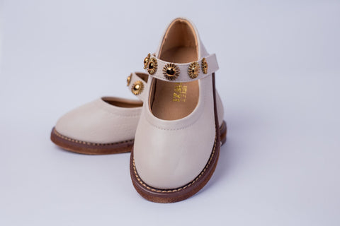 MIWZI Leather shoes with star studs on strap - Offspring