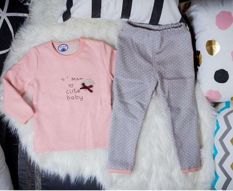 ''Mom's Cute Baby'' Pajama Set - Offspring