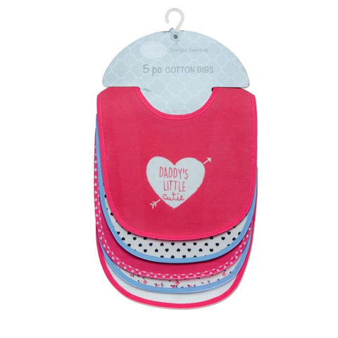 "Mother's Choice ""Daddy's Little Cutie"" 5-Pack Cotton Bibs - Offspring"