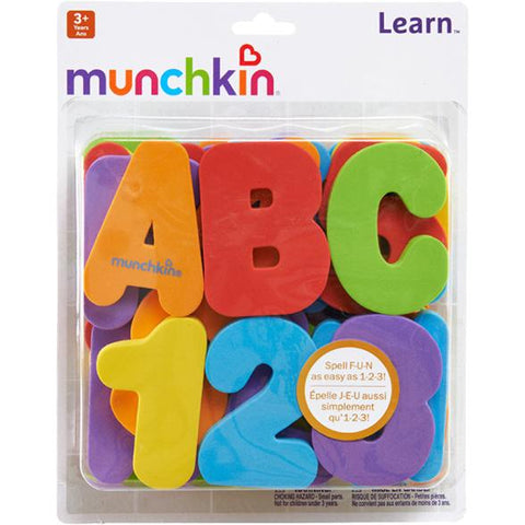 Munchkin Learn™ Bath Letters & Numbers, Primary - Offspring