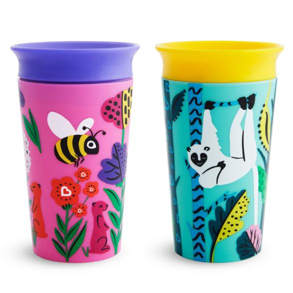 Munchkin Miracle® 360° WildLove Sippy Cup 9oz/266ml, 2 Pack - Offspring