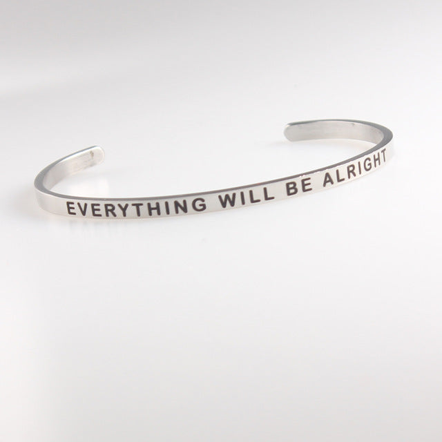 Inspirational Quotes LOVE YOURSELF Bracelets/Bangle Custom Jewelry - Ebony's Beauty Hair and Skin Care LLC