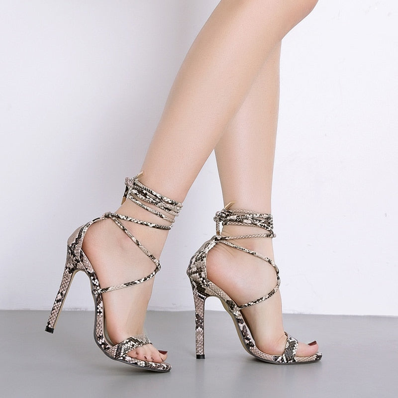 Women High Heels Sexy Sneak Print