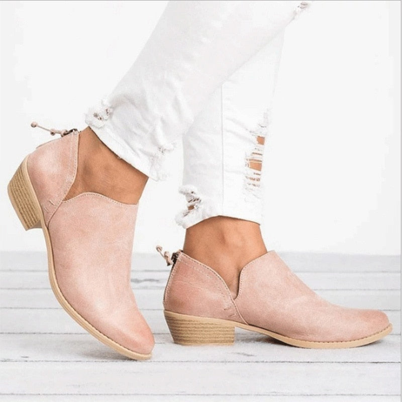 Women Winter Boots Slip On Women Causal Ankle Boots Platform Shoes