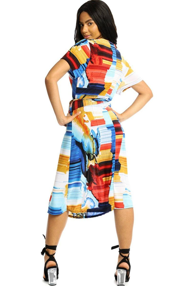 Wrapped Style Midi Dress - Ebony's Beauty Hair and Skin Care LLC