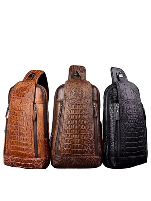 Crocodile Sling Backpack - Ebony's Beauty Hair and Skin Care LLC