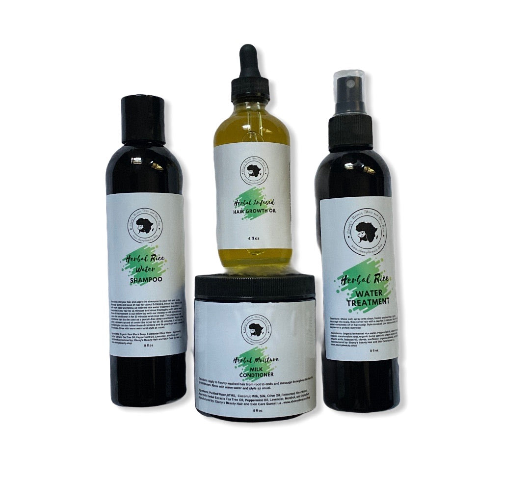 Herbal Rice Water Hair  Growth  Bundle - Ebony's Beauty Hair and Skin Care LLC