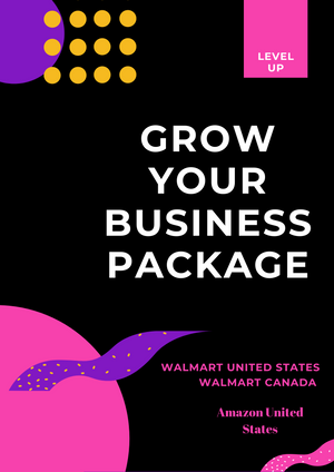 Grow Your Business on Walmart and Amazon Package - Ebony's Beauty Hair and Skin Care LLC