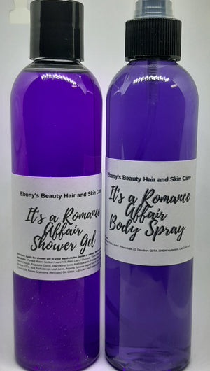 It's a Romance Affair Shower Gel and Body Spray Set - Ebony's Beauty Hair and Skin Care LLC