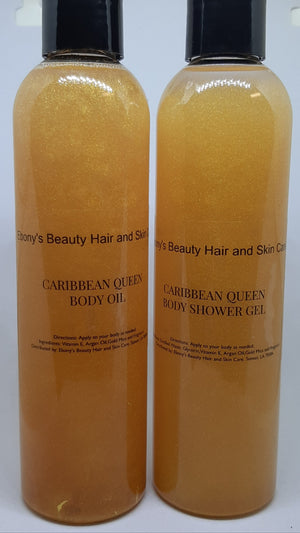 Caribbean Queen Shower Gel and Body Oil - Ebony's Beauty Hair and Skin Care LLC