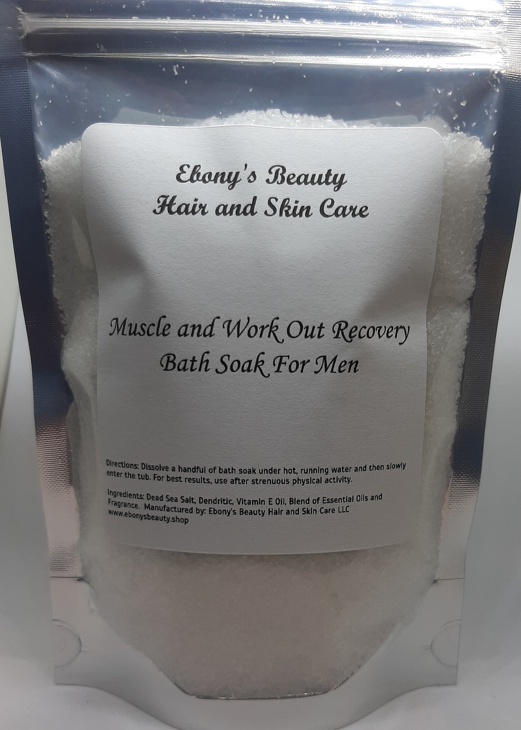 Muscle and Work Out Recovery Bath Soak For Men - Ebony's Beauty Hair and Skin Care LLC