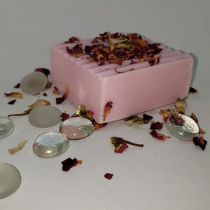 Peppermint and Rose Shea Butter Soap