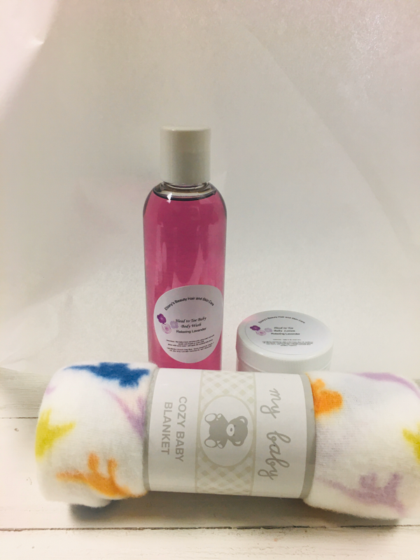 Lavender Head to Toe Baby Body Wash Sets - Ebony's Beauty Hair and Skin Care LLC
