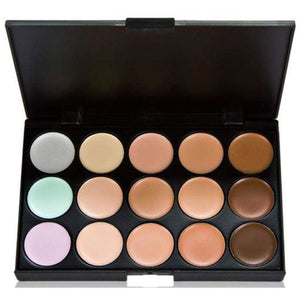 15 Colors Contour Face Cream Girlfriend Makeup Concealer Palette - Ebony's Beauty Hair and Skin Care LLC
