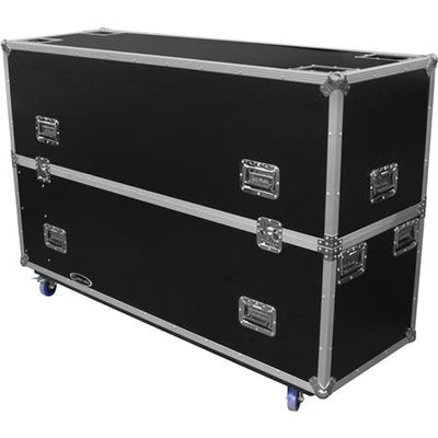 Closed View_LumaVu Travel Case With Wheels For 2 Displays