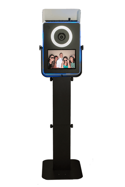 Front side of the HootBooth® DSLR EventPRO PWR Photo Booth