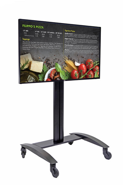 HootBooth LumaVu Digital Signage On Stand in Landscape/Horizontal Orientation