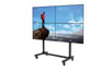 HootBooth LumaVu 2x2 Video Wall On Portable Rolling Stand With Lockable 360 degree Wheels