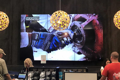 HootBooth LumaVu 3x3 Video Wall VESA Wall-Mount Solution In Retail Store
