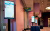 HootBooth LumaView Portable Digital Signage at Conference