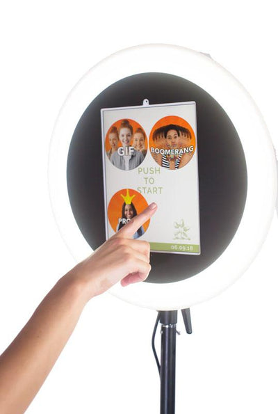 Selecting Photo Options With The HootBooth ILLUMIN8 ROVR GIF Booth