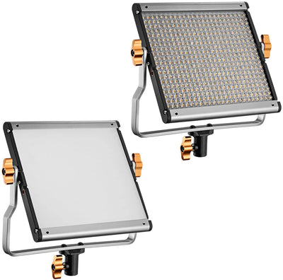 Optional LED Video Lights w/ Softbox Diffuser Panel