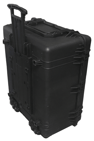Retractible Handle & Rollerblade Style Wheels of the Carrying Case