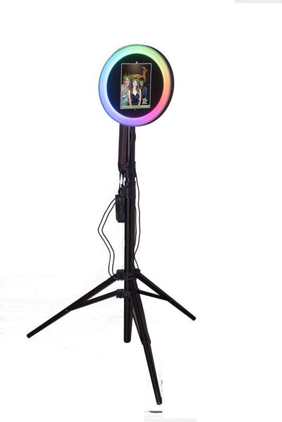 Colored LED Ring Light in Attract Mode