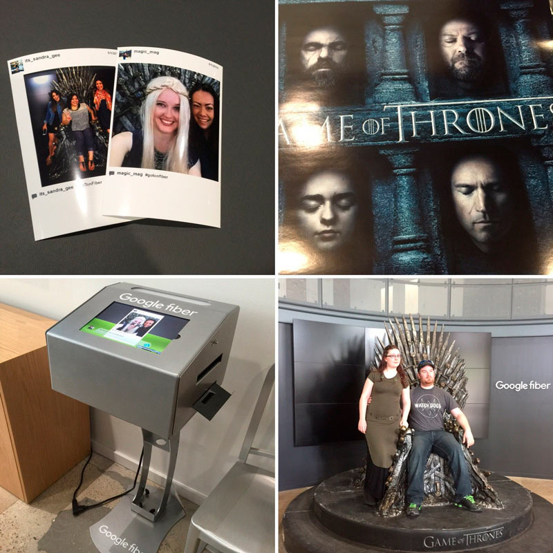 HBO Game of Thrones Activation With The Hashtag Instagram Printer