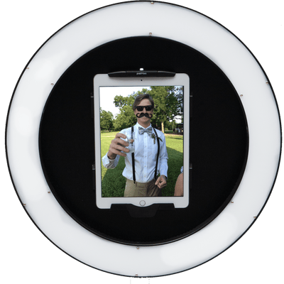HootBooth Photo Booth Photo Booth HootBooth® ILLUMIN8 Wall Mount GIF Photo Booth - 2.5 Lb iPad Ring Light GIF, Virtual Props, Boomerang, Burst Photo Booth