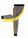 B&W Trouser w/ Yellow Fringe
