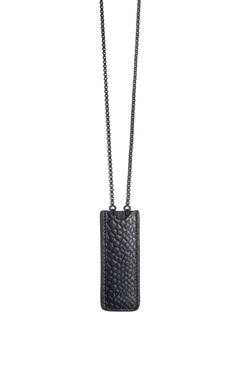 BLACK CROCODILE Necklace