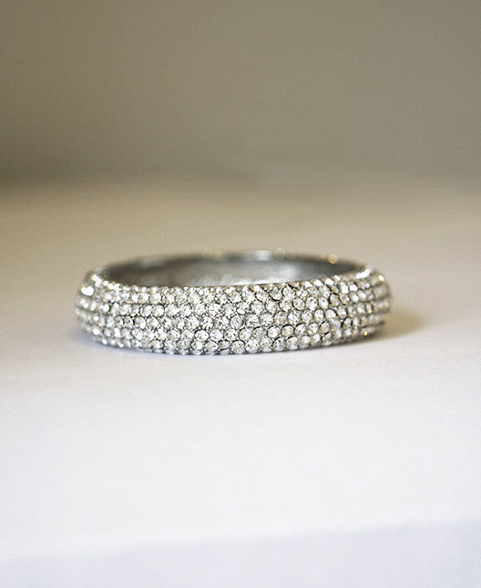 JANE - Crystal pave bangle