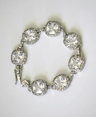 JORDAN - Cushion cut cz bracelet
