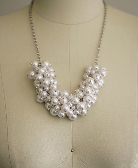 ELLIE  - Pearl Statement Necklace