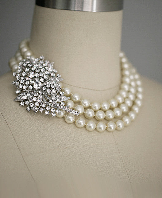 PIPER - Pearl statement necklace