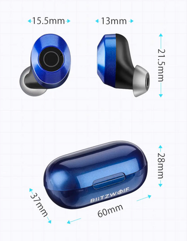 earbud dimensions