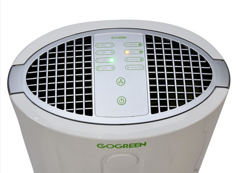 top controls of air purifier