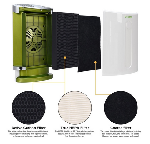 filters of the air purifier