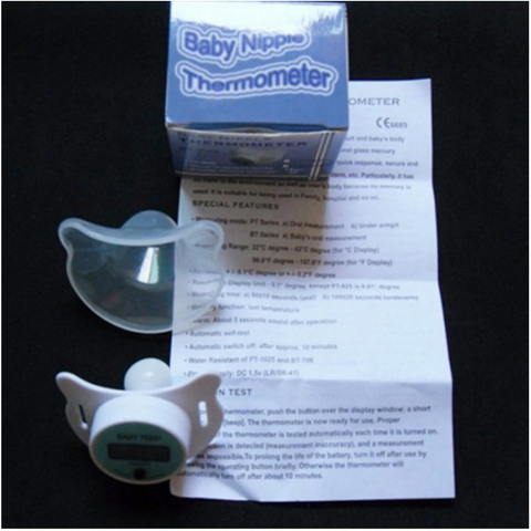 baby nipple thermometer package contents