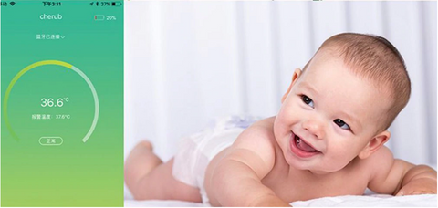 baby watch thermometer and smartphone app