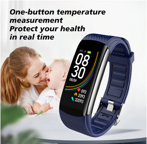 One button temperature measurement to protect your health in real time