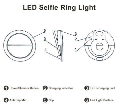 led selfie ring light schematic